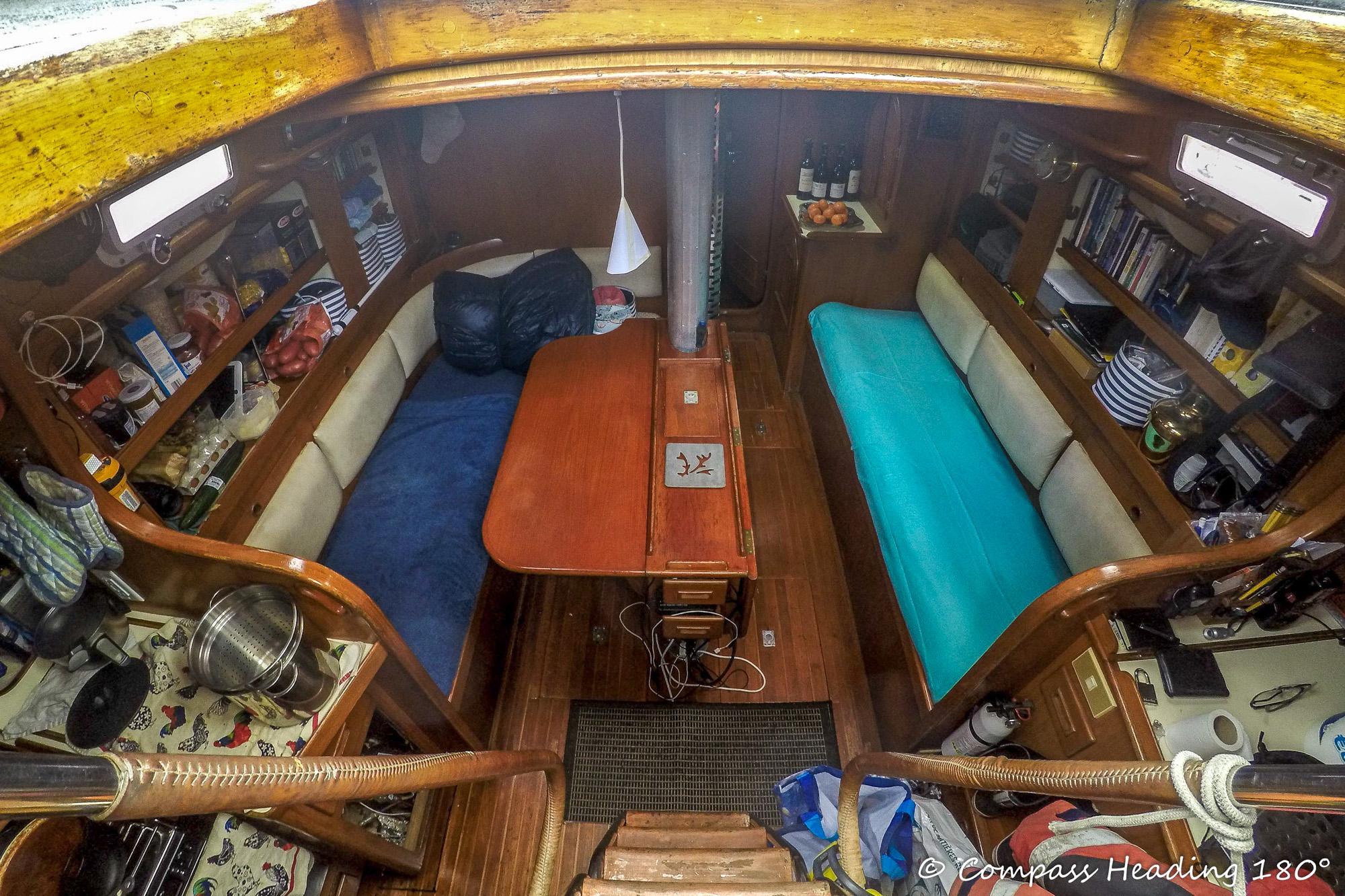 Sailboat interior